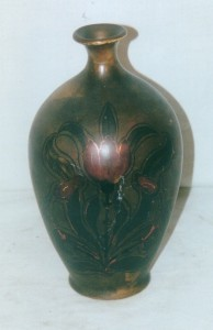 "10"" vase shape illustrated in advertisement from Hahn's book pg 37"
