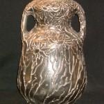 "9"" Owens Metallic Silver Vase shape 1281"